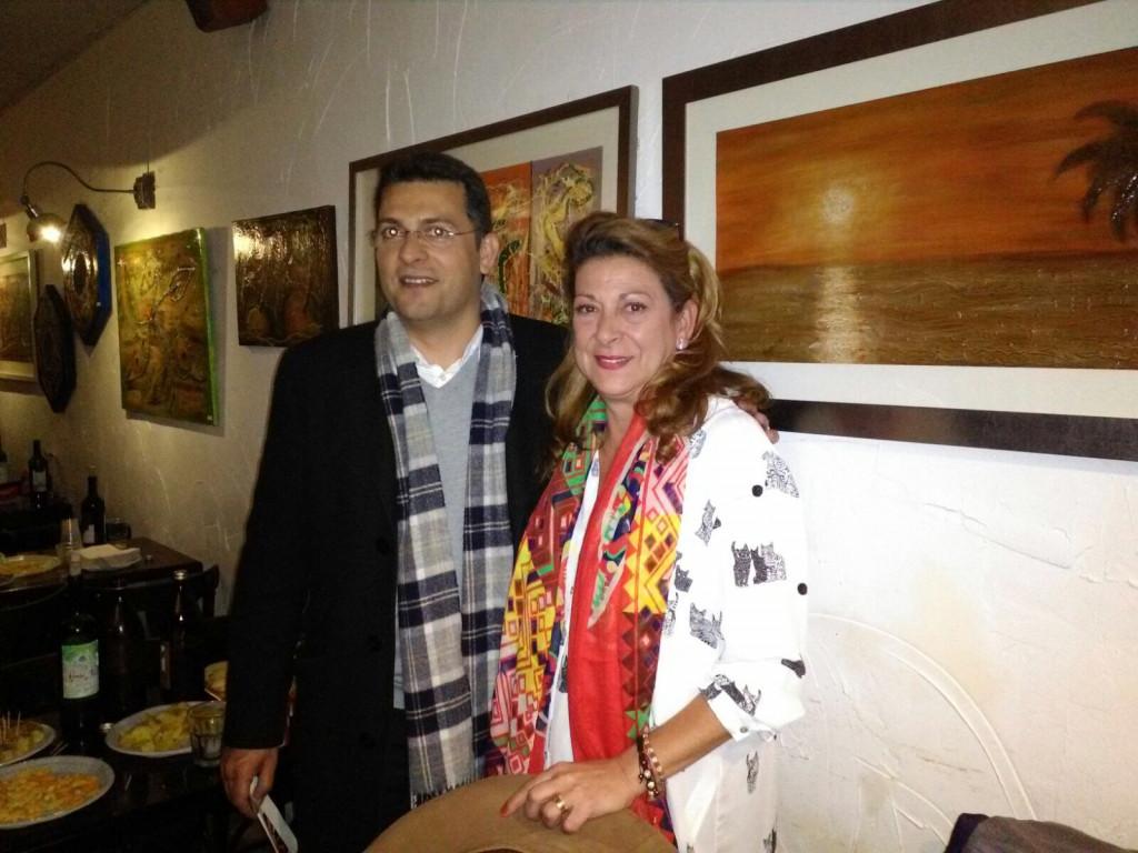 El Alcalde Juan Ramón Adsuara e Isabel Ramírez