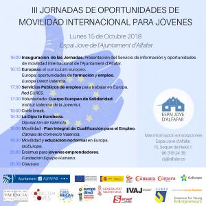 Cartel III Jornada de movilidad internacional para jóvenes - definitivo