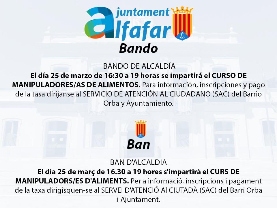 plantilla BANDO DE ALCALDÍA