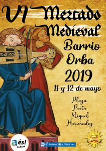 Cartel Feria Medieval Barrio Orba 11 y 12 mayo 2019 Redes Sociales